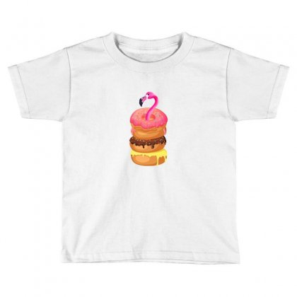 Donut Flamingo Toddler T-shirt Designed By Neset
