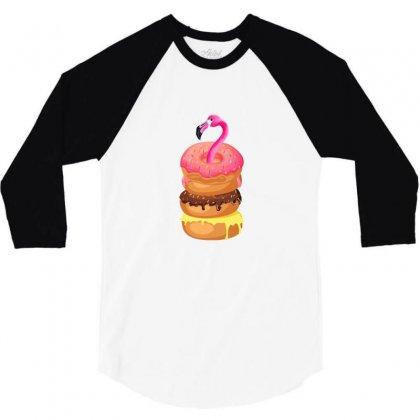 Donut Flamingo 3/4 Sleeve Shirt Designed By Neset