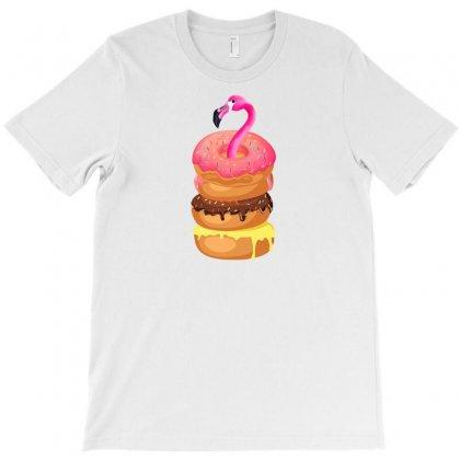 Donut Flamingo T-shirt Designed By Neset