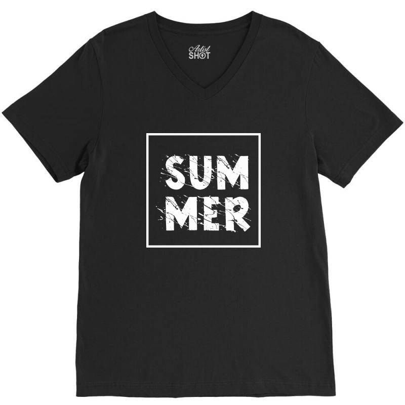 Summer V-neck Tee   Artistshot
