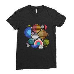 Geometric shapes Ladies Fitted T-Shirt | Artistshot