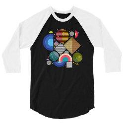 Geometric shapes 3/4 Sleeve Shirt | Artistshot