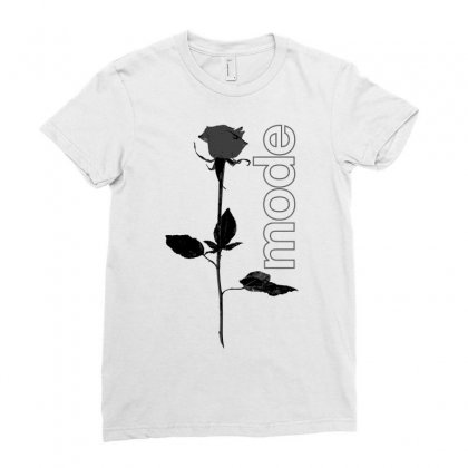 Mode Rose Black Ladies Fitted T-shirt Designed By Starlight