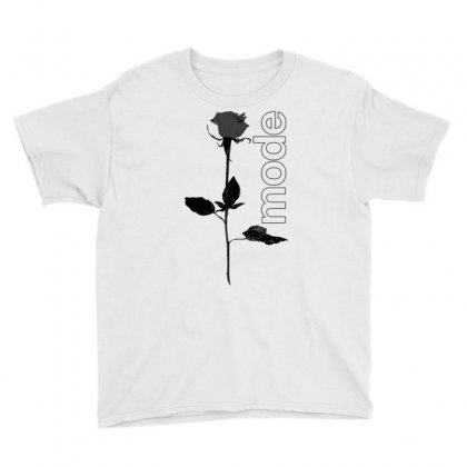Mode Rose Black Youth Tee Designed By Starlight