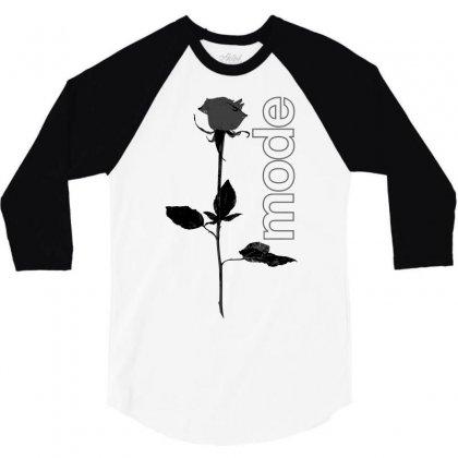 Mode Rose Black 3/4 Sleeve Shirt Designed By Starlight