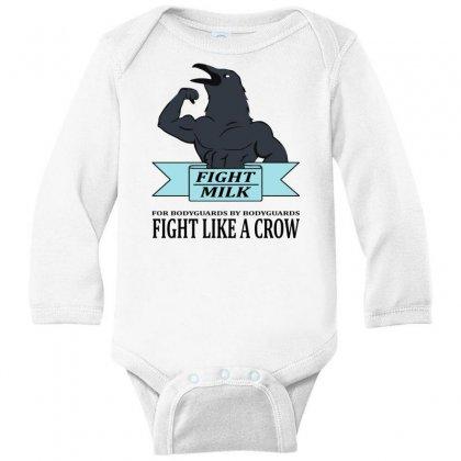 Fight Milk Long Sleeve Baby Bodysuit Designed By Starlight