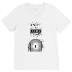 Enjoy the little things V-Neck Tee | Artistshot