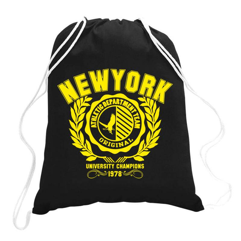 New York Drawstring Bags | Artistshot