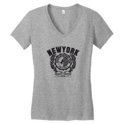 New york Women's V-Neck T-Shirt | Artistshot
