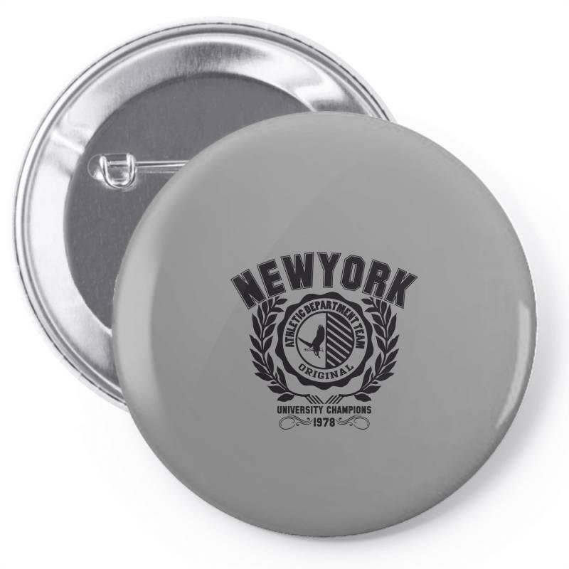 New York Pin-back Button   Artistshot