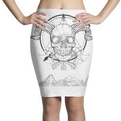 Skull Pencil Skirts   Artistshot