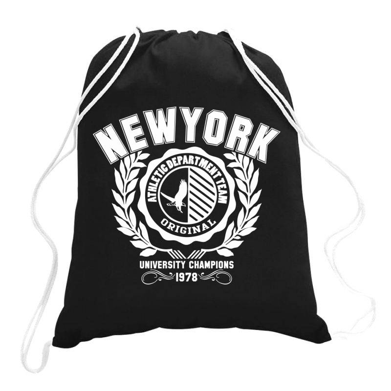 New York Drawstring Bags | Artistshot