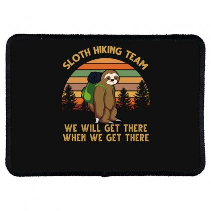 Sloth Hiking Team Rectangle Patch Designed By Badaudesign