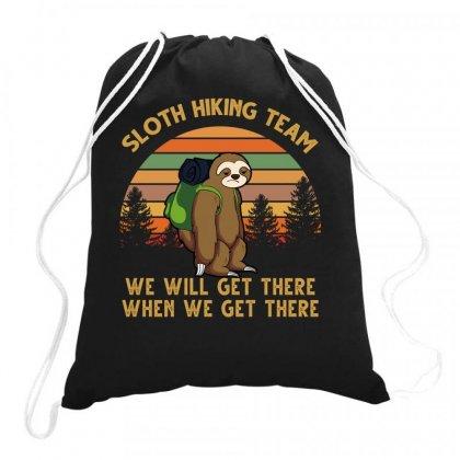 Sloth Hiking Team Drawstring Bags Designed By Badaudesign