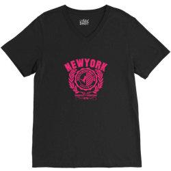 New york V-Neck Tee | Artistshot