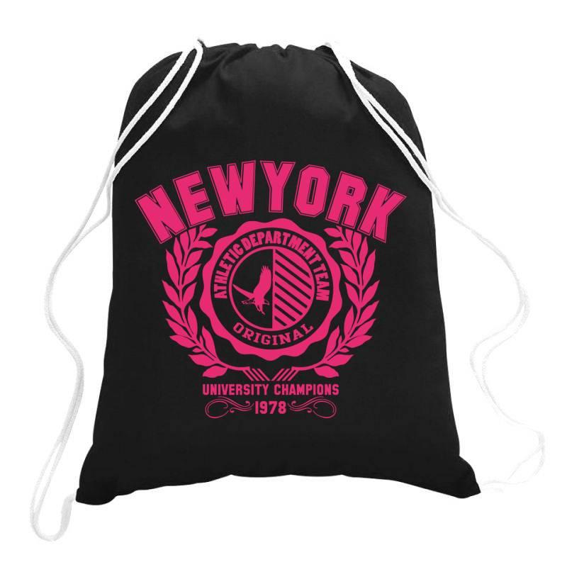 New York Drawstring Bags   Artistshot
