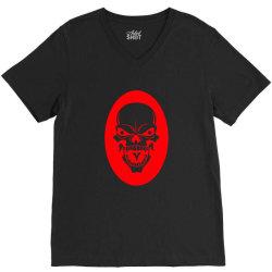 Skull V-Neck Tee | Artistshot