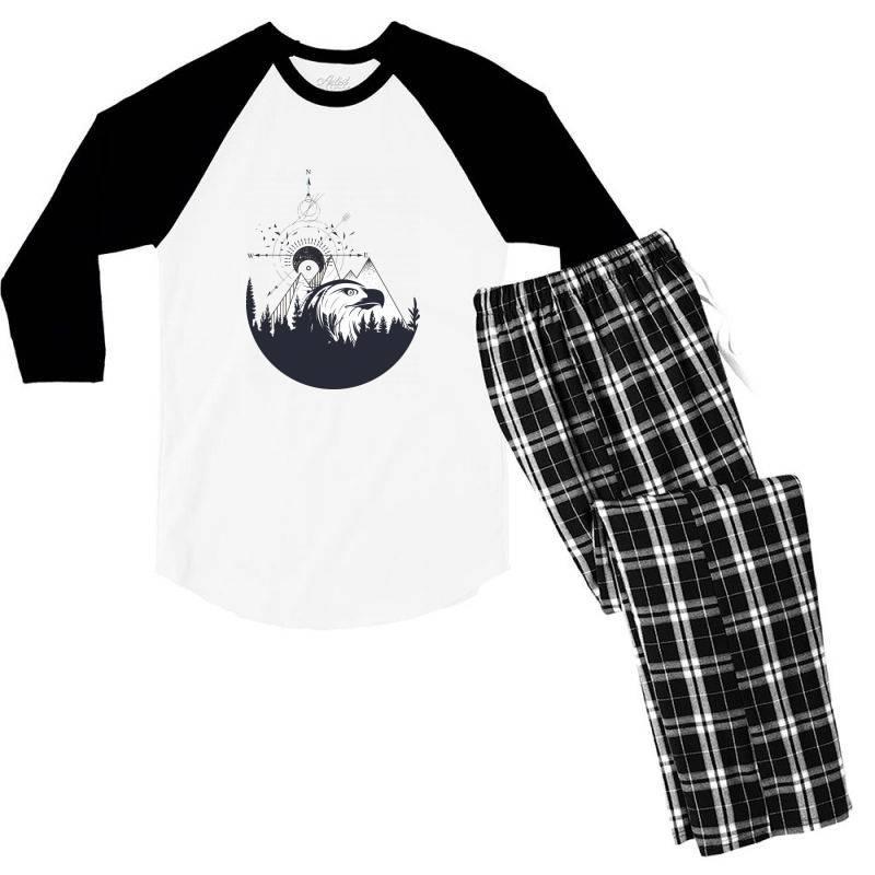 Eagle Men's 3/4 Sleeve Pajama Set   Artistshot