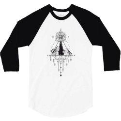 Compas 3/4 Sleeve Shirt   Artistshot