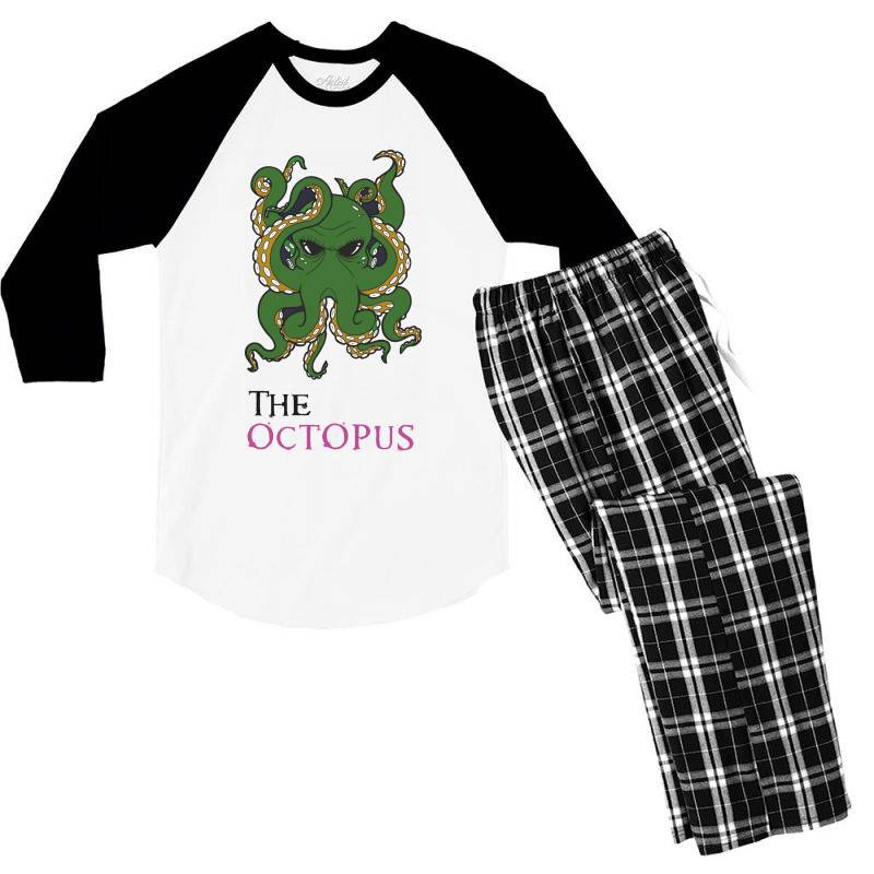 The Octopus Men's 3/4 Sleeve Pajama Set | Artistshot