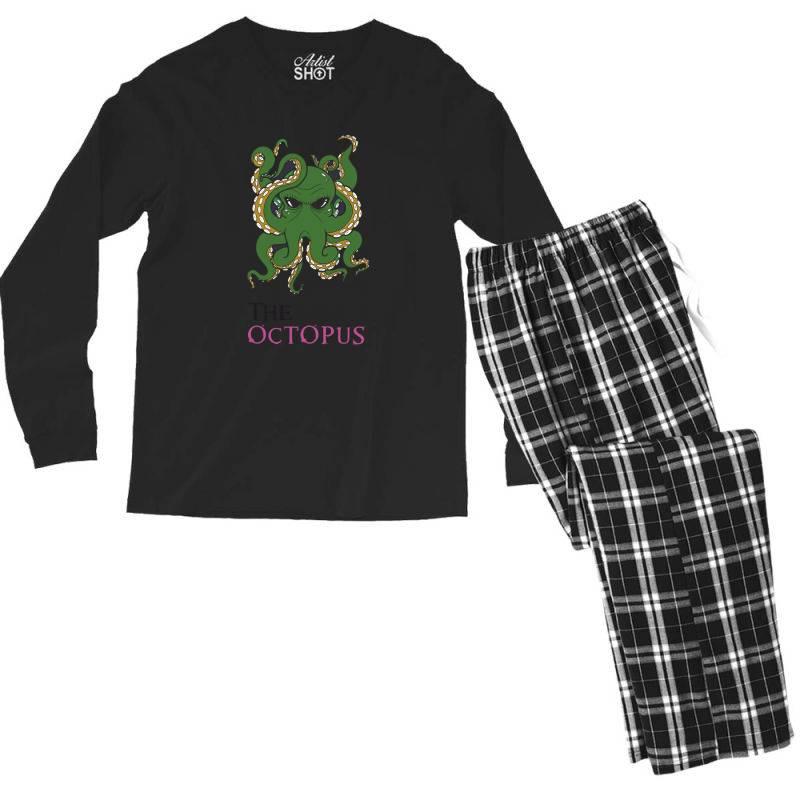 The Octopus Men's Long Sleeve Pajama Set   Artistshot