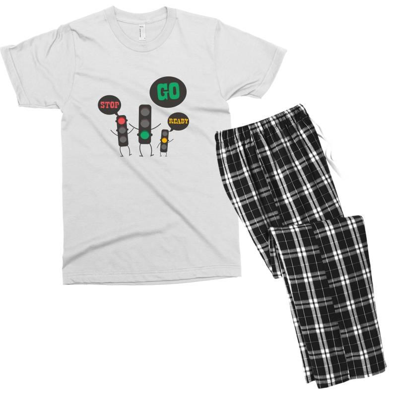 Stop Go Ready Men's T-shirt Pajama Set | Artistshot