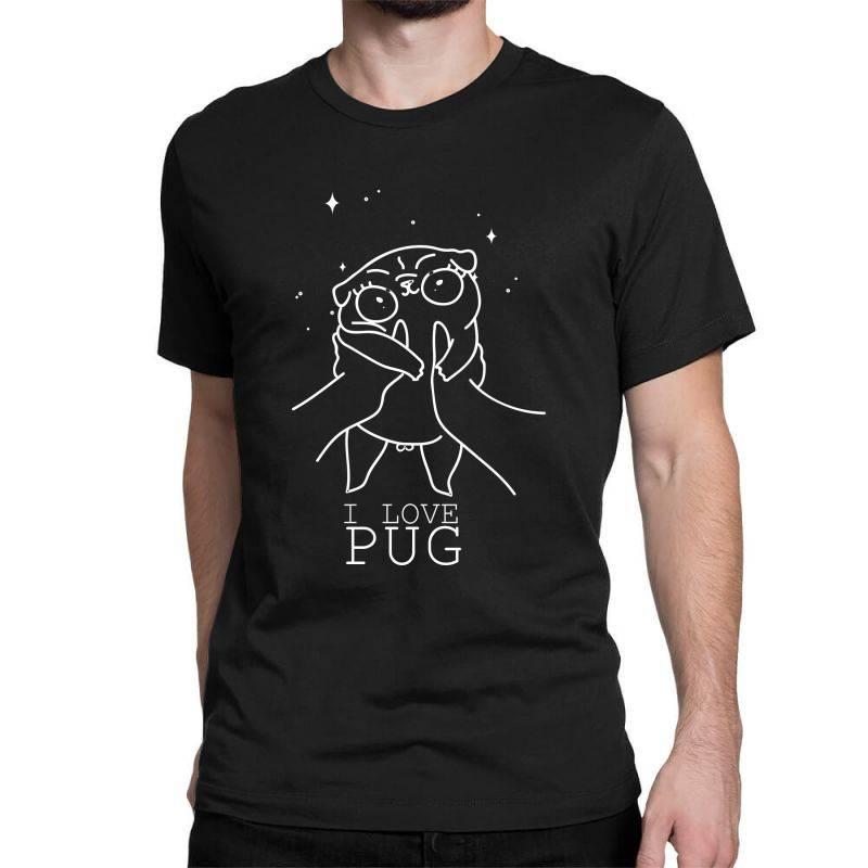 I Love Pug Classic T-shirt | Artistshot