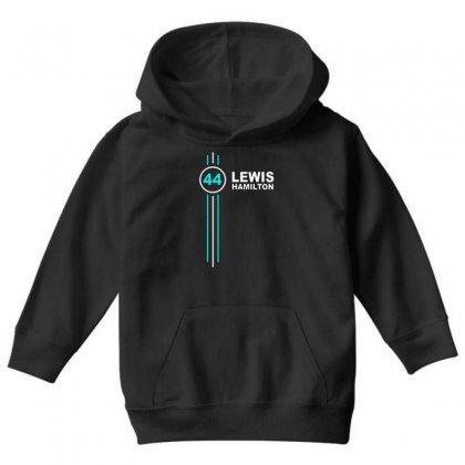 Lewis Hamilton Number 44 Youth Hoodie Designed By Jasmine Tees