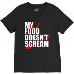 my food doesn't scream V-Neck Tee | Artistshot