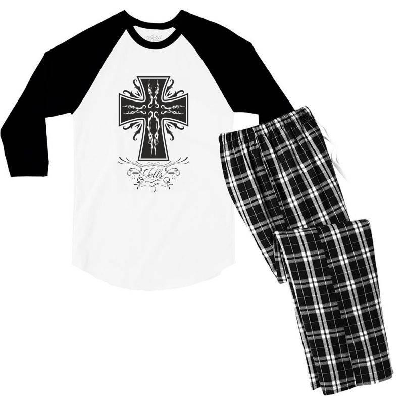 The Cross Men's 3/4 Sleeve Pajama Set | Artistshot