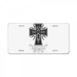 The cross License Plate   Artistshot