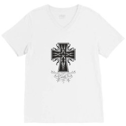The cross V-Neck Tee | Artistshot