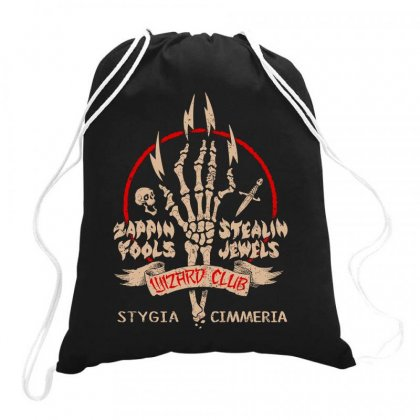 Wizard Club Drawstring Bags Designed By Moon99