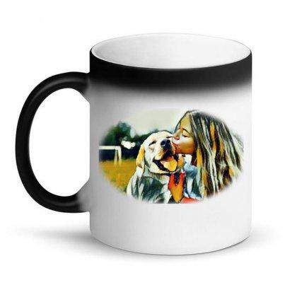 Frame With A Beautiful Girl Wpark On Green Gr Magic Mug Designed By Kemnabi