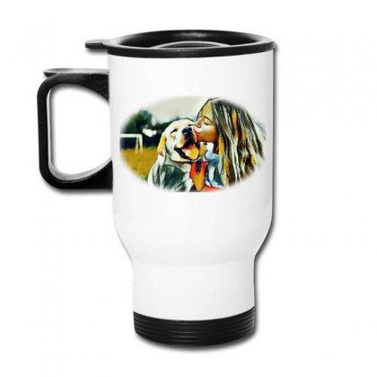 Frame With A Beautiful Girl Wpark On Green Gr Travel Mug Designed By Kemnabi