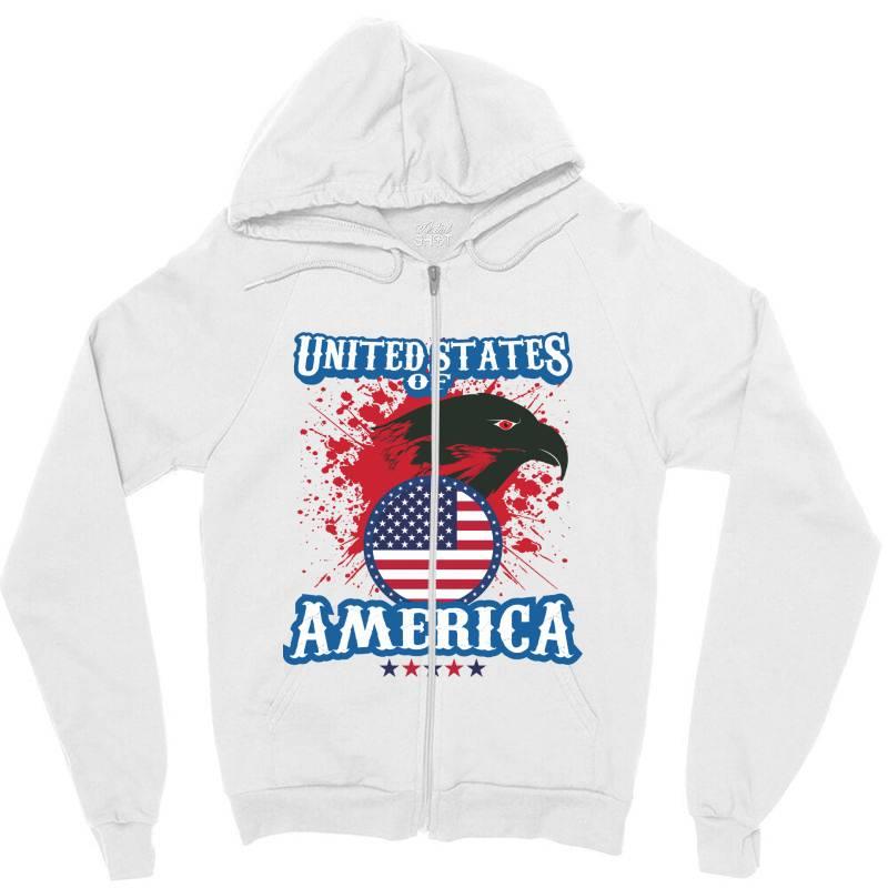 United States Of America Zipper Hoodie | Artistshot