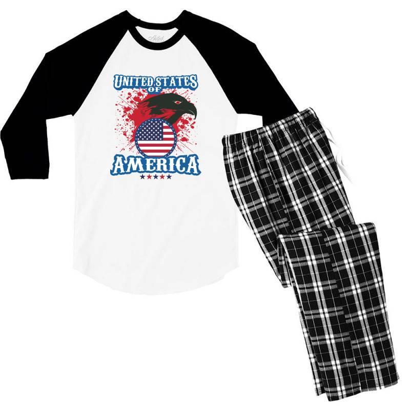 United States Of America Men's 3/4 Sleeve Pajama Set | Artistshot