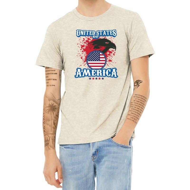 United States Of America Heather T-shirt | Artistshot