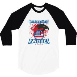 United States of America 3/4 Sleeve Shirt | Artistshot