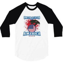 United States of America 3/4 Sleeve Shirt   Artistshot