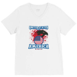 United States of America V-Neck Tee | Artistshot