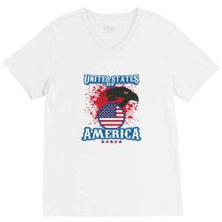 United States of America V-Neck Tee   Artistshot