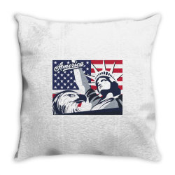 America Throw Pillow   Artistshot