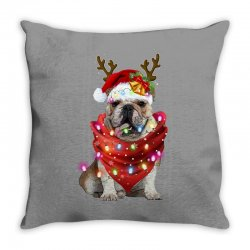 bulldog christmas Throw Pillow | Artistshot
