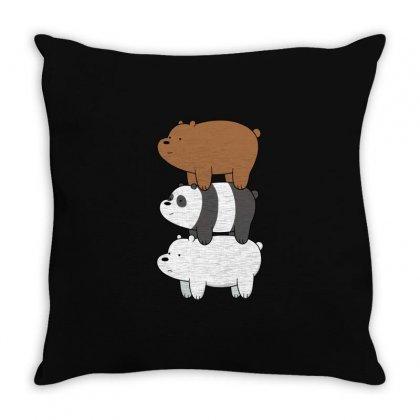 We Bare Bears Throw Pillow Designed By Rakuzan