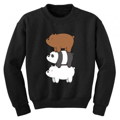 We Bare Bears Youth Sweatshirt Designed By Rakuzan