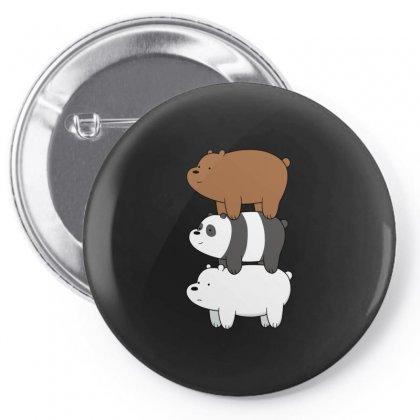 We Bare Bears Pin-back Button Designed By Rakuzan
