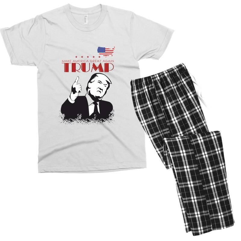 Make America Great Again Trump Men's T-shirt Pajama Set | Artistshot