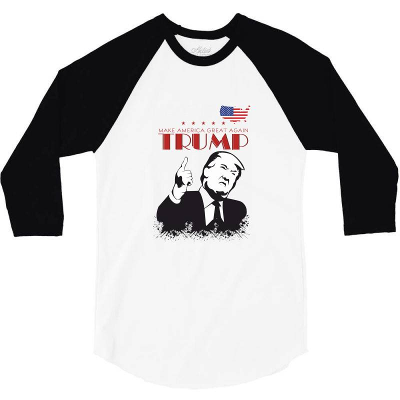 Make America Great Again Trump 3/4 Sleeve Shirt | Artistshot