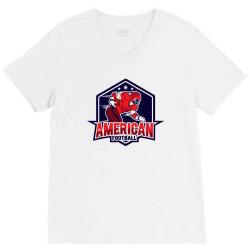 American football V-Neck Tee | Artistshot